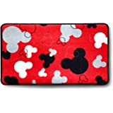 "Mickey Mouse Rugs - Bathroom Rug, Indoor Outdoor Entrance Rug, Kitchen Rug, 17"" x 30"" (Red)"