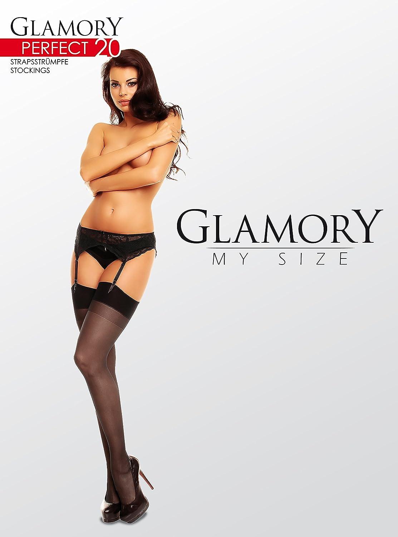 440f14d31c520 GLAMORY Damen Strapsstrümpfe Perfect 20 DEN