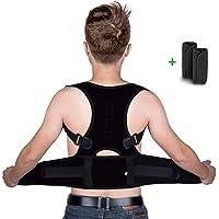 isermeo Correttore Postura Schiena, Corretta Posturale Spalle Regolabile, Fascia Supporto Postura Correzione Traspirante Cintura Sostegno Ortopedica Lombare e Busto per Uomo e Donna