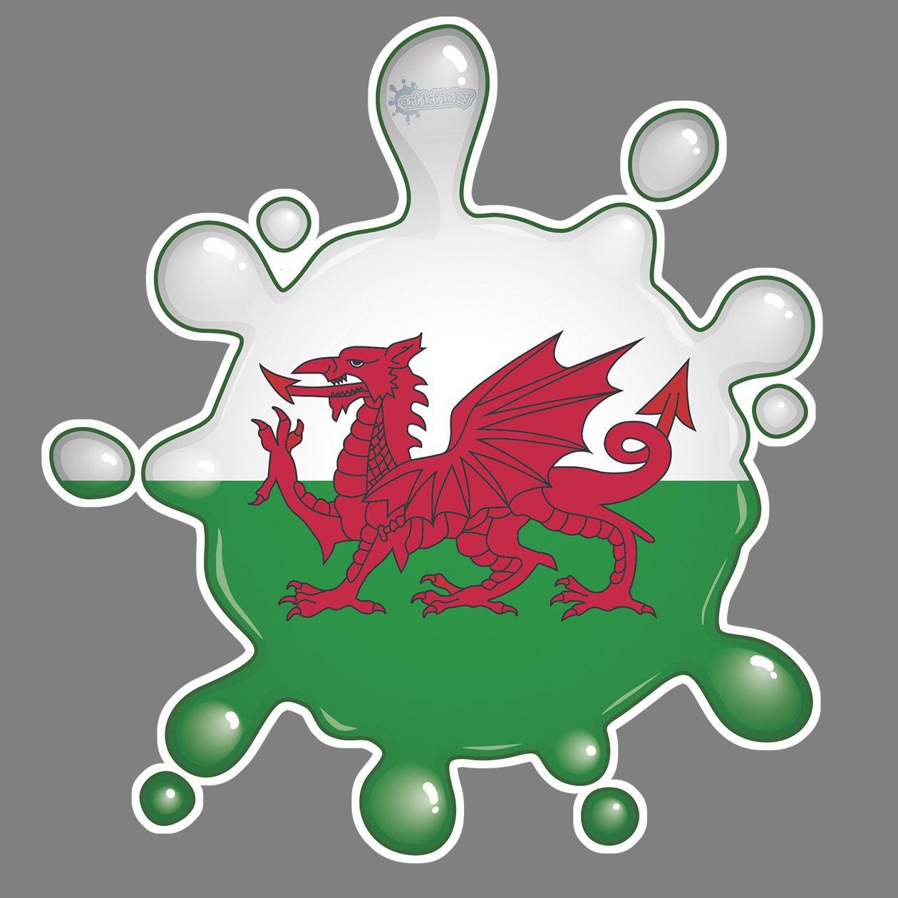 Wales Flag Splat FREE UK POSTAGE Parking Permit Holder Skin