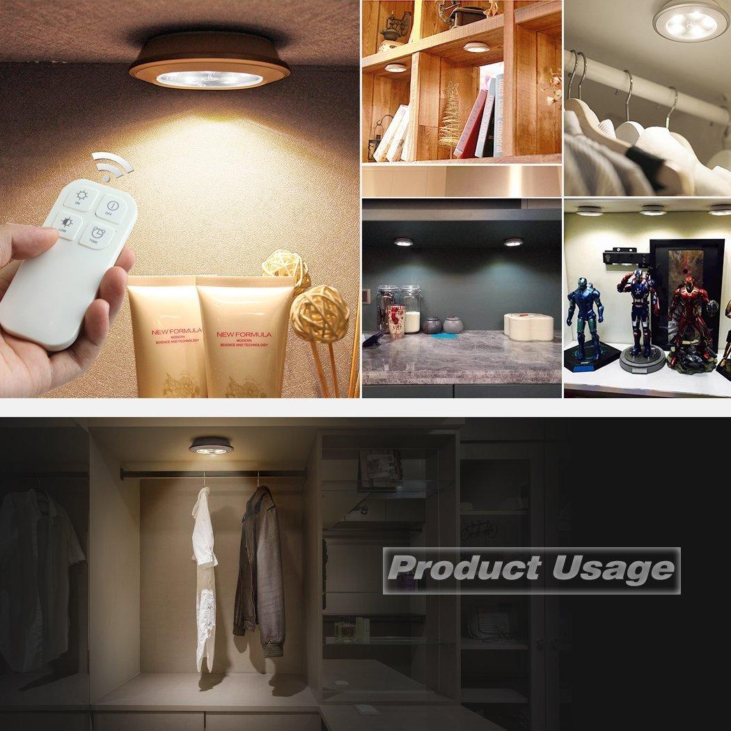 Nachtlicht Kabellose Fernbedienung, Morpilot 5 LED Wiederaufladbare ...