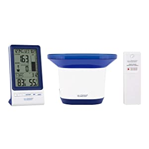 La Crosse Technology 724-1415BL-INT Wireless Rain Station with Temperature and Humidity, Blue
