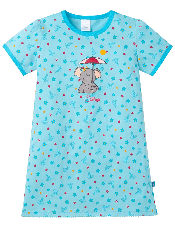 Schiesser Camicia da notte 1/2, Camicia da notte per bambine e ragazze blu (türkis 807) 104 (Taglia produttore: 104) Schiesser AG 146252