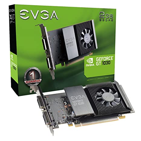 EVGA GeForce GT 1030 SC, 2GB GDDR5, Slot Único, Placa de ...