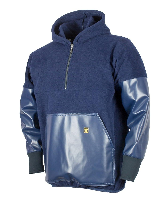 Kodiak Guy Cotten &apos apos; Fleece top–PVC maniche e tasca frontale