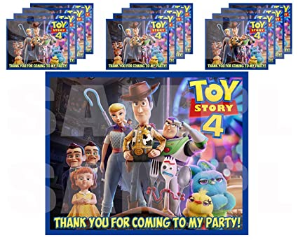 Amazon.com: Toy Story 4 Movie Stickers Party Favors Supplies ...