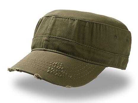 URBAN DESTROYED BERRETTO Militare CAP Cappello 100% COTONE CHINO (Olive c77c1114c832