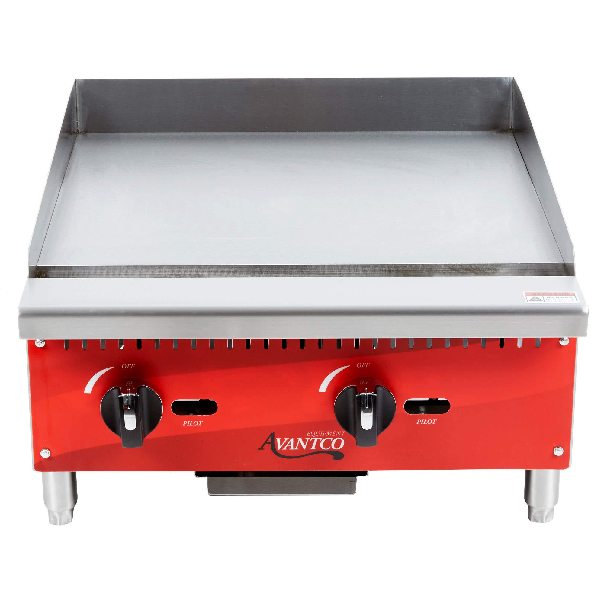 TableTop King AG24MG 24'' Countertop Gas Griddle with Manual Controls - 60,000 BTU