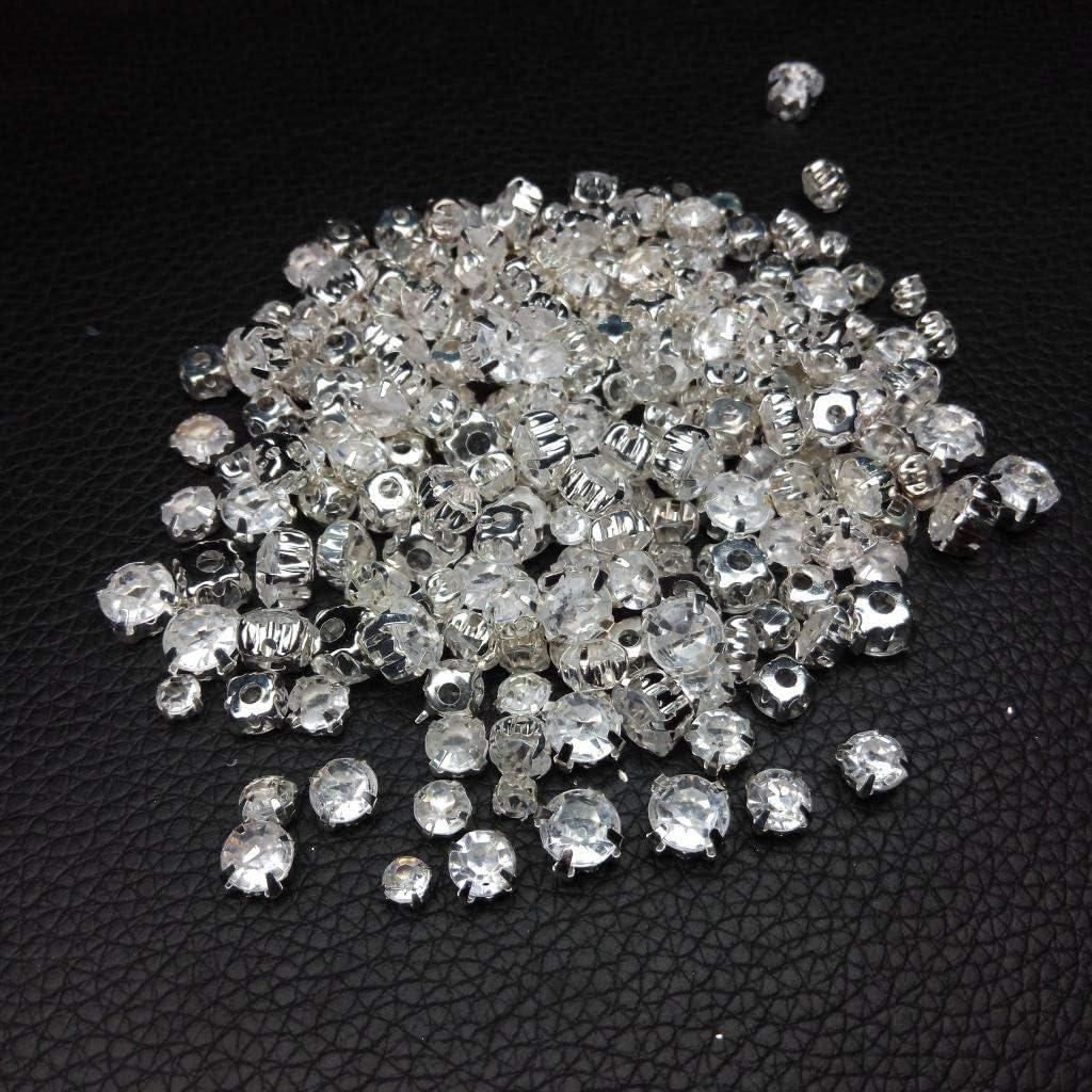7mm Sharplace 100 Pezzi Diamante Bottoni per Cucire Cristalli Perle di Rhinestone Abbellimenti