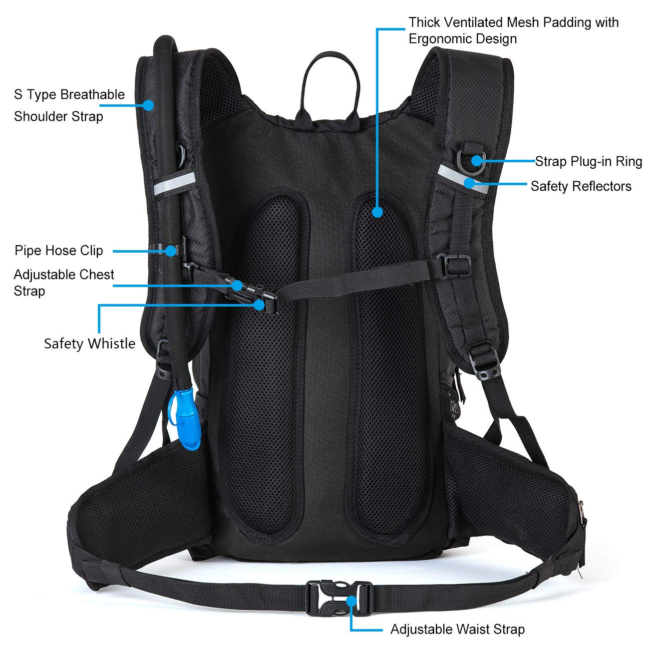 Orange Mud Gear Vest 2.0 Hydration Pack 1L Bladder Super Breathable, Lightweight Durable Hydrating Backpack Runner, Bikers, Sports, Outdoor Adventures More