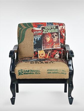 Shabby Chic Vintage Sessel Ohrensessel 63 X 75 X 82 Cm