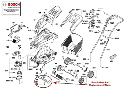 Bosch Rotak arranview cuchilla (Para: Rotak 320 ER Cortacésped ...