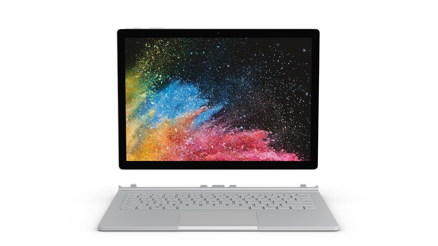"Microsoft Surface Book 2 Notebook Convertibile da 13.5"", i5-7300U, 8 GB, SSD3, 128 GB, Platino"