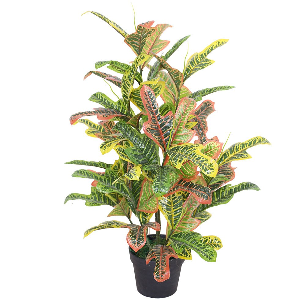 CHW Artificial 3-Feet Tropical Codiaeum Plant
