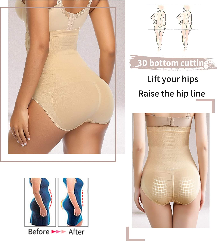 COMFREE Intimo Modellante Vita Alta Mutande Contenitive Senza Cuciture Glutei Snellente Pantaloncini Invisibile Shapewear Underpants da Donna Taglie Forti
