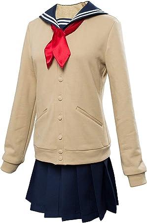 Boku no My Hero Academia Himiko Toga Cosplay Costume JK Sailor Sweater Track