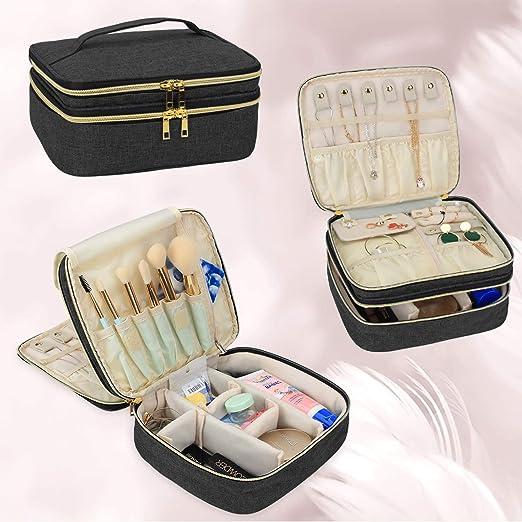 Luxja Organizador Maquillaje con Espacio para Joyas y Productos de ...