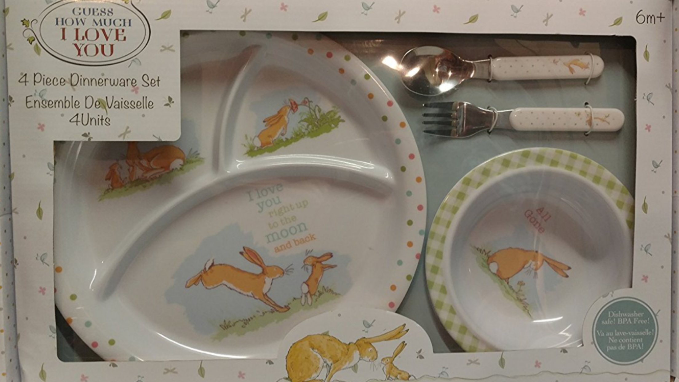Guess how much I love you 4 piece dinnerware set