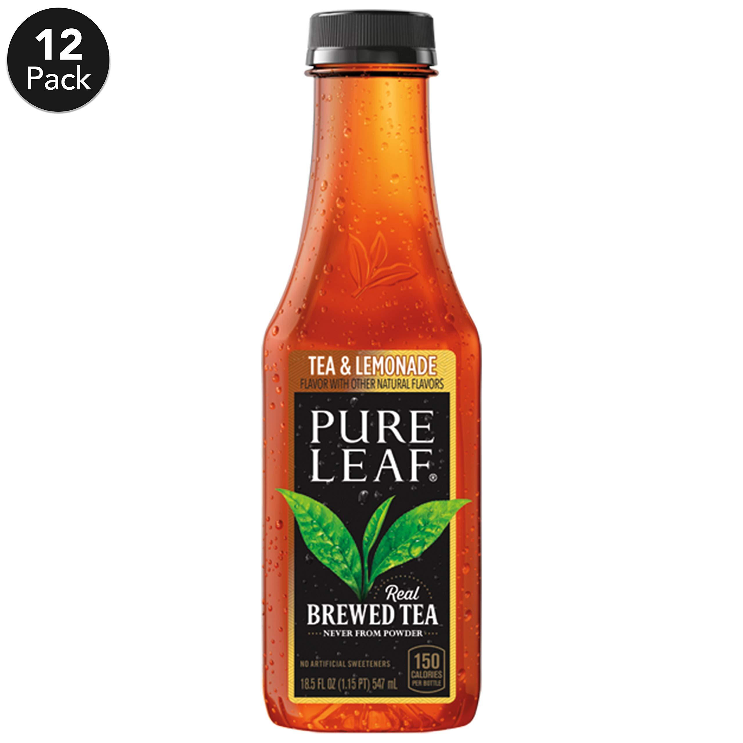 Pure Leaf Iced Tea, Tea and Lemonade, Real Brewed Black Tea, 18.5  Fl. Oz Bottles (Pack of 12) by Pure Leaf