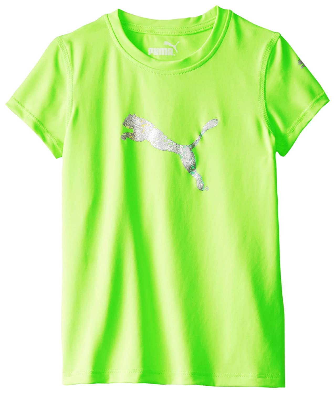 Puma Little Girls' Short Sleeve Core Tee Shirt, Kite Green, 4 LYSB00REJN6LA-SPRTSEQIP