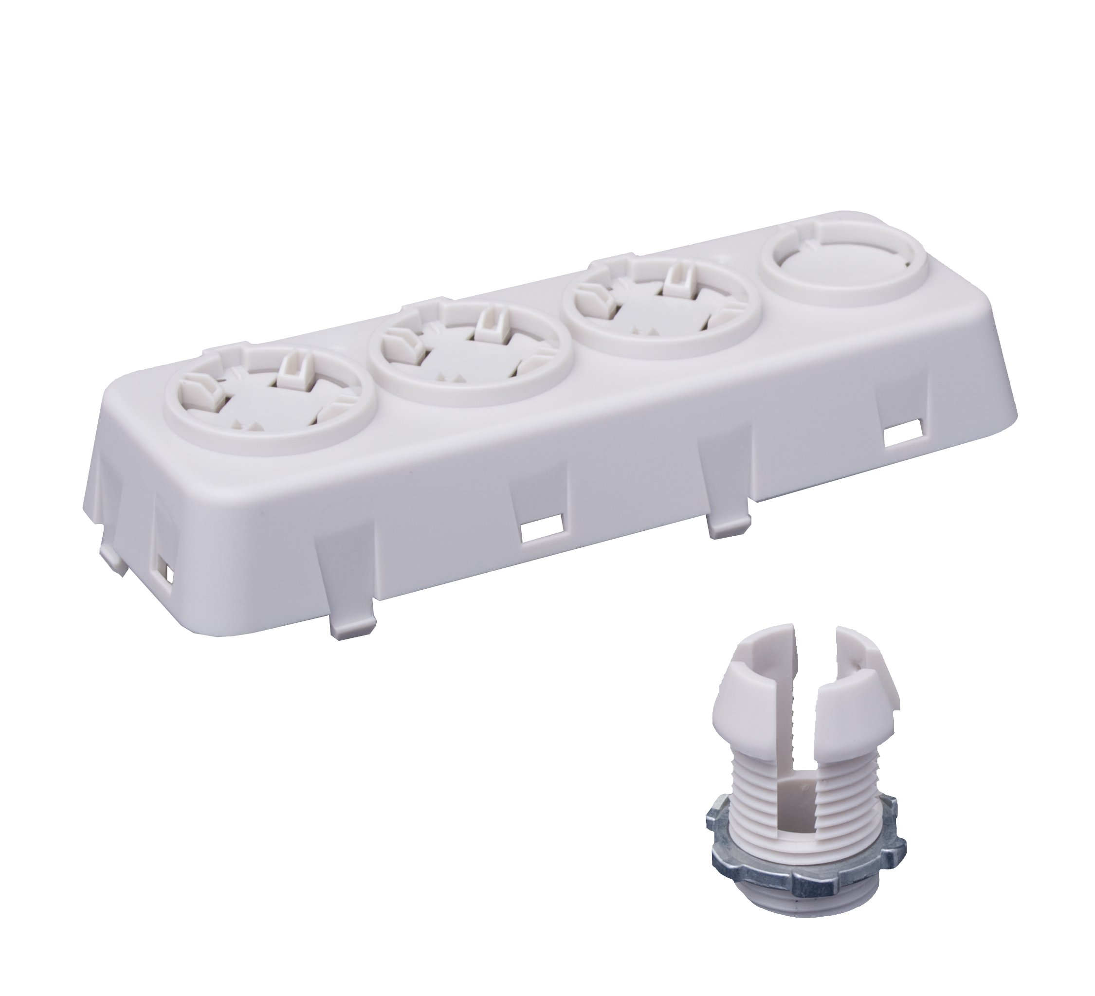 Leviton OSFOA-W Fixture-Mounted Offset Adapter Accessory for OSFHU, 3 Position, White