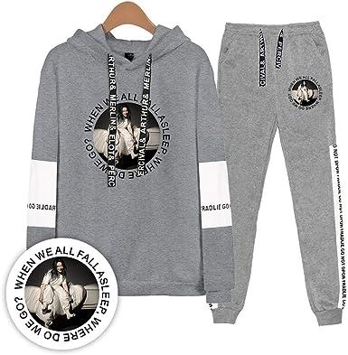 Vibome Billie Eilish Singer Casual suéter con Capucha + ...