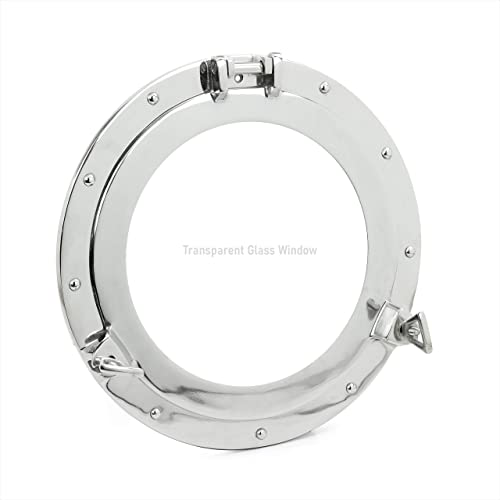 RedSkyTrader 11 Aluminum Porthole Window – Nautical Ship Decor