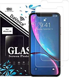 DaVoice Screen Protector (2-Pack) Compatible with iPhone 11 Tempered Glass Screen Protector also for Apple iPhone XR, 12, 12 Pro Screen Protector Tempered Glass Guard, Phone Case Friendly, 3D Touch