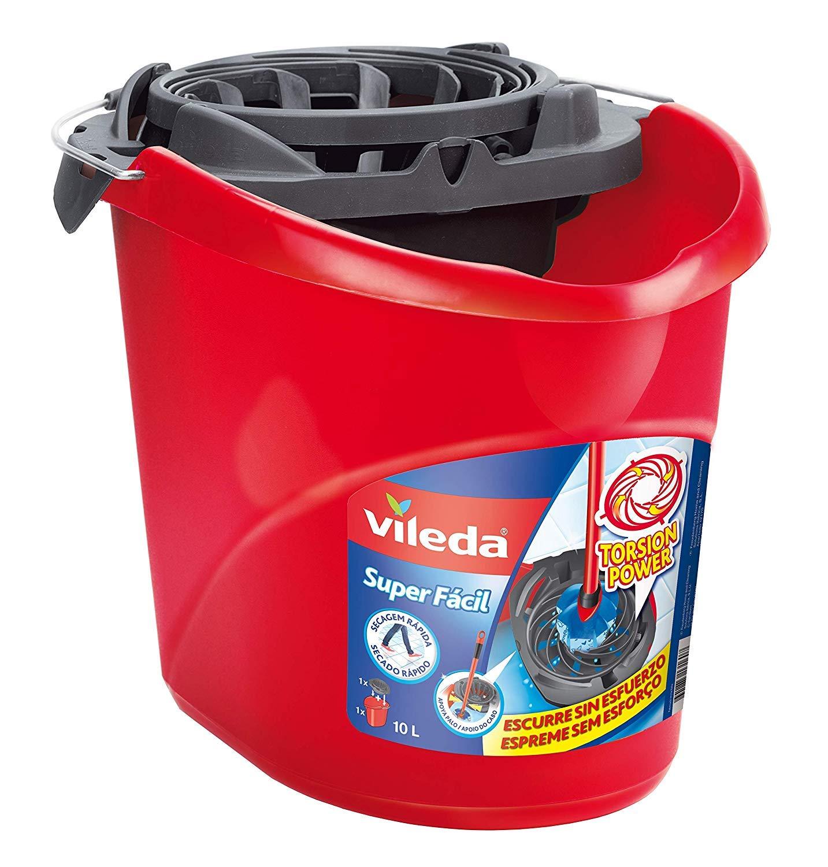 Vileda Super Easy Torsion Wringer Power Mop Bucket Red SuperMocio