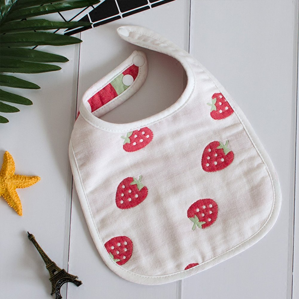 Toddlers Drool Bibs with Snaps 5-Pack Organic Absorbent Drooling /& Teething Bib Cotton Age 0-36 Months