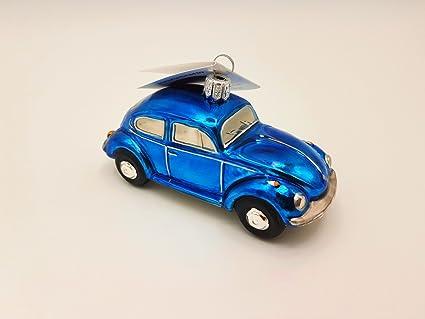 Hanco Glass VW Beetle Blue, Christmas Ornament, (2283.03) - Amazon.com: Hanco Glass VW Beetle Blue, Christmas Ornament, (2283.03
