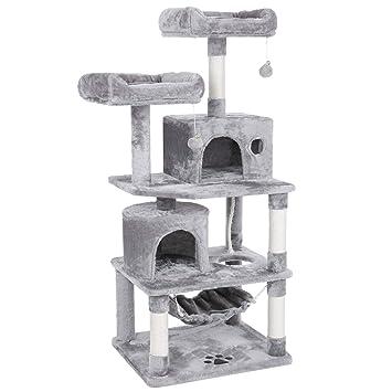 Amazon.com: BEWISHOME MMJ01 - Casa de juegos para gatos, con ...