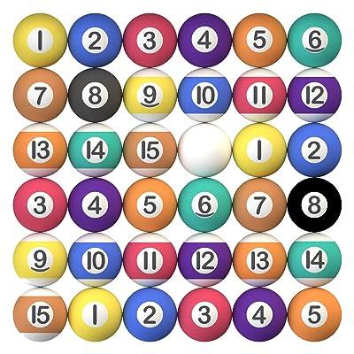 """Entervending Bouncy Balls Bulk Little Pool Balls for Kids and Gumball Machine 100 pcs 27 mm 1.06"""": Toys & Games"""