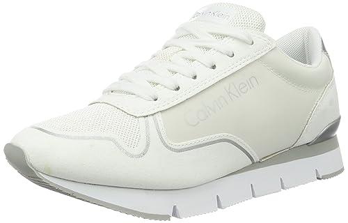 Calvin Klein Jeans Tori Reflex Nylon/Microfiber, Zapatillas para Mujer, Blanco (White), 41 EU: Amazon.es: Zapatos y complementos