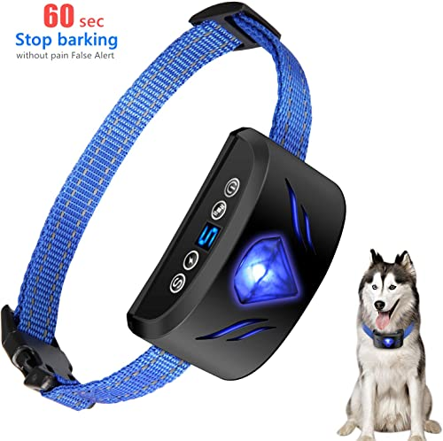 Rechargeable Dog Bark Collar No False Alert – Dog Anti Barking Collar can Stop Barking Quickly Within 1 Minute Without Pain,Anti bark Collar suitable for small medium and large dog breeds