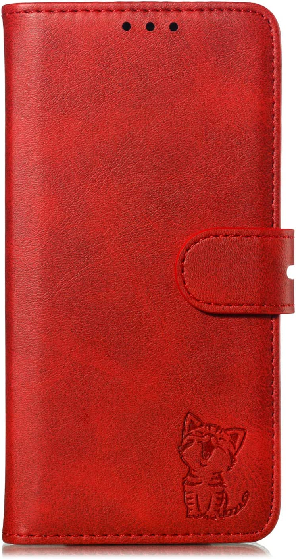 Tosim Galaxy A80 H/ülle Klappbar Leder TOXLI010174 Rot Brieftasche Handyh/ülle Klapph/ülle mit Kartenhalter Stossfest Lederh/ülle f/ür Samsung Galaxy A80