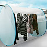 洗濯物カバー 目隠しカバー 物干し竿に通すだけの簡単設置