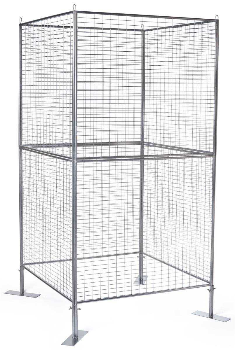 Displays2go Wire Grid Panel for Artwork, Iron Metal Construction, Powder Coated – Silver Finish (AD4PNLS)