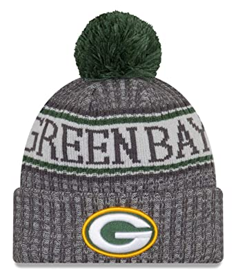 2ed0a121de4 New Era NFL Green Bay Packers 2018 Sideline Graphite Sport Knit  Amazon.co. uk  Sports   Outdoors