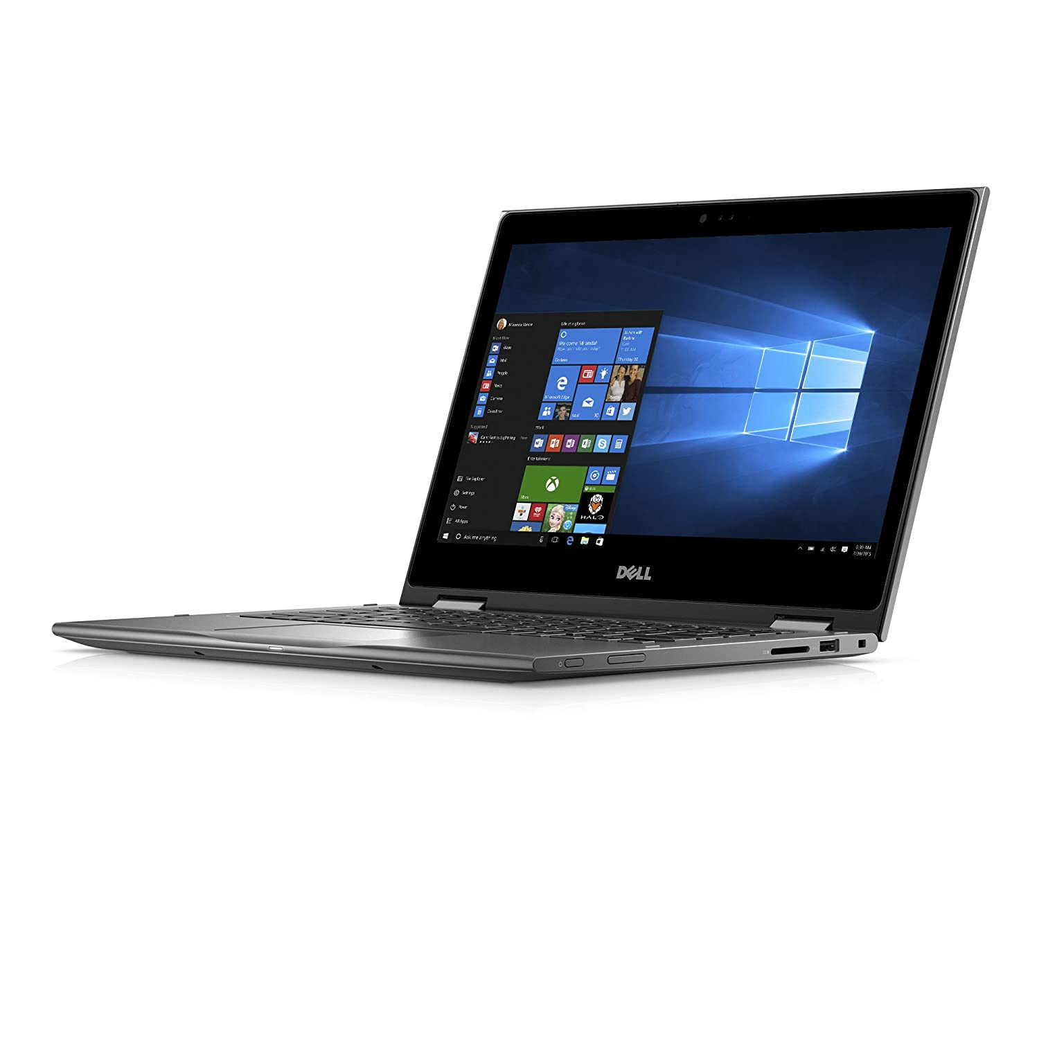 """Amazon.com: Dell Inspiron i5378-4314GRY 13.3"""" FHD 2-in-1 Laptop (7th  Generation Intel Core i5, 8GB RAM, 256 SSD HDD): Computers & Accessories"""