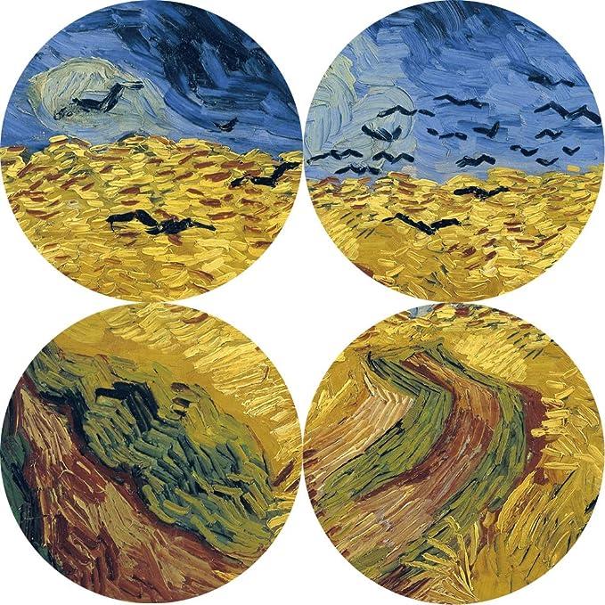 NIMCG Van Gogh Campo de Trigo y Lona de Cuervo réplica de ...