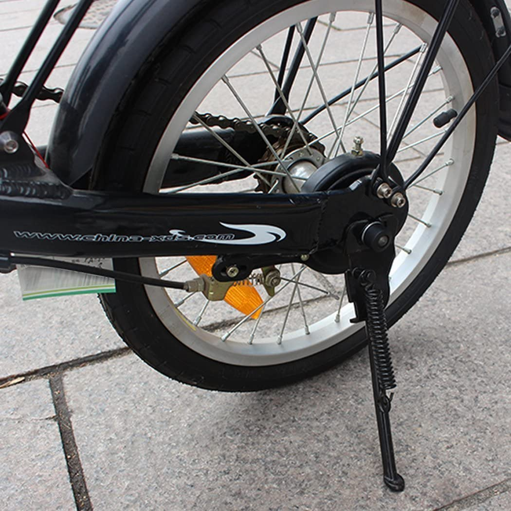 Children Bike Side Kickstand Foot Bicycle Parking Stand Support 14-20 Inch Black