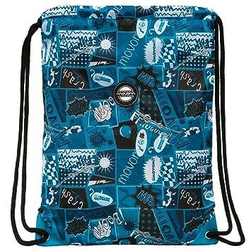 Movom Mochila Saco, Diseño Comic, Color Azul, 1.54 litros: Amazon.es: Equipaje