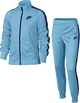 grey and blue nike tracksuit