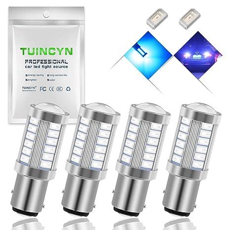 Tuincyn BAY15D, 1016, 1034, 1157, 1157A Bombillas LED 5630 33SMD, blu