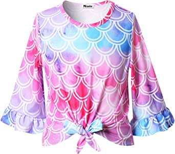 Mirawise Women Leopard Print Tops Knit Sweater Casual Pullover Shirts Blouse