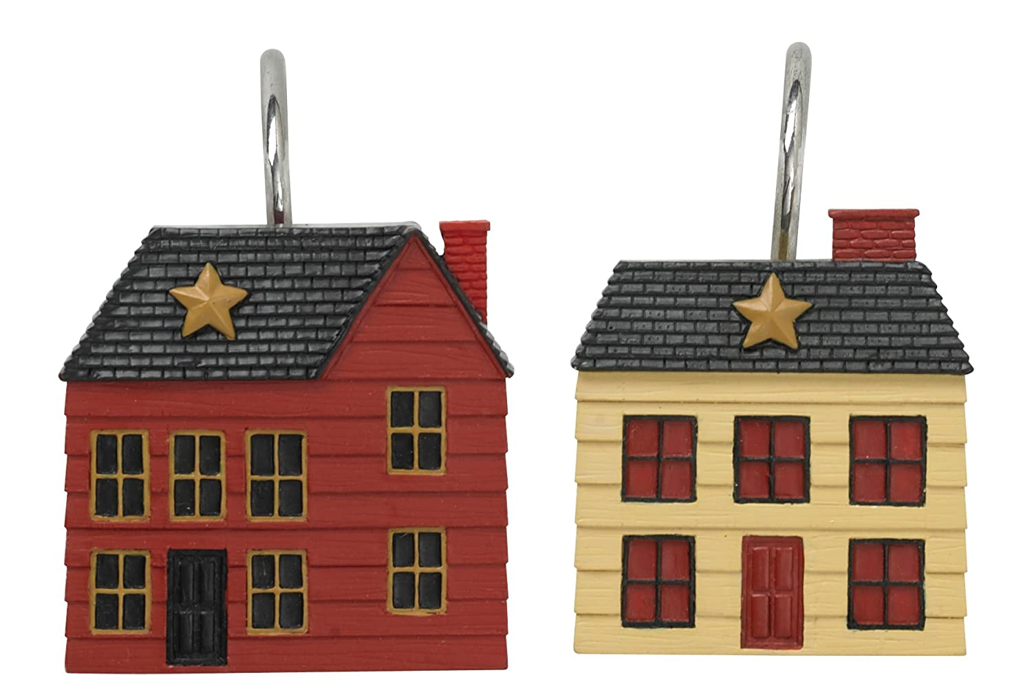 Country Cottage Rustic Shower Curtain Hooks