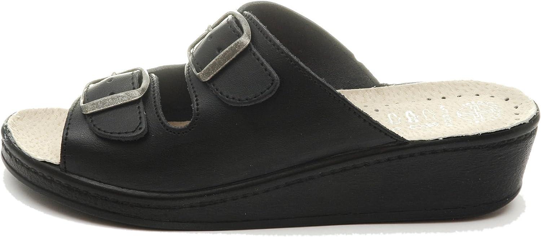Dr Punto Rosso Medical Comfort 400SB Sandalias Zuecos Zapatos Zapatillas de Cuero para Mujer