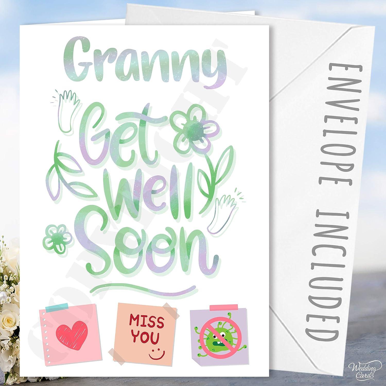 Personalised Get Well Soon Card