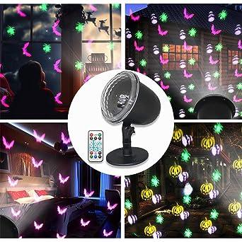 Konesky Proyector de Luz LED, Tema de halloween Patrones Lámpara ...